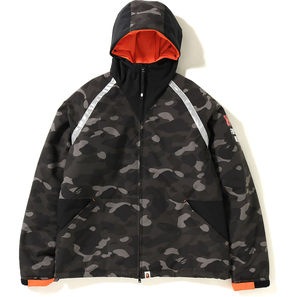 COLOR CAMO TIGER SHARK PADDED HOODIE JACKET MENS