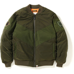 PATCHED BOMBER DOWN JACKET MENS