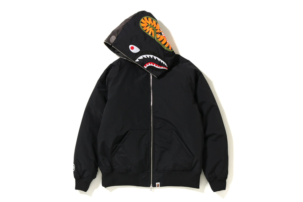 COLOR CAMO SHARK HOODIE DOWN JACKET MENS