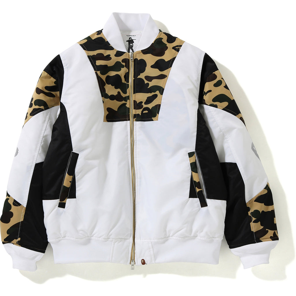 1ST CAMO COLOR BLOCK PADDED JACKET MENS
