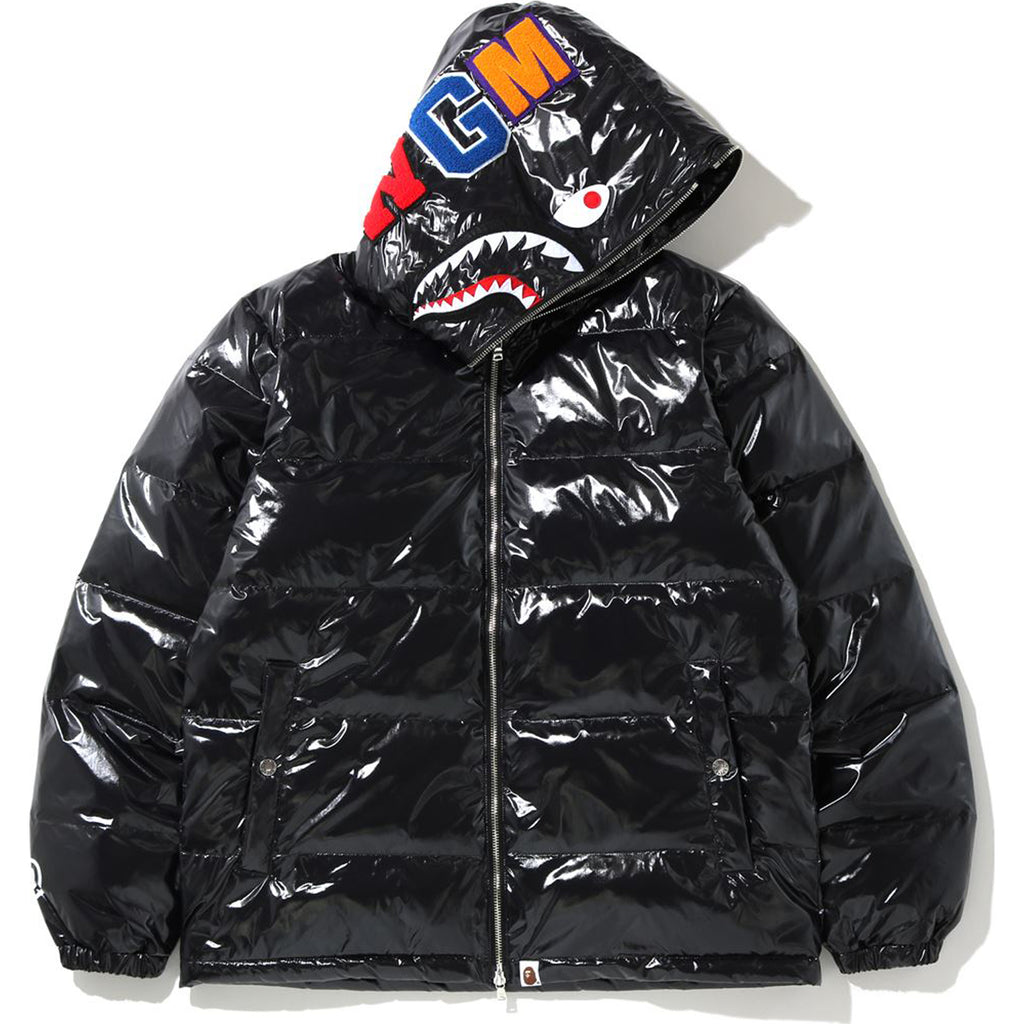 GLOSSY SHARK DOWN JACKET MENS