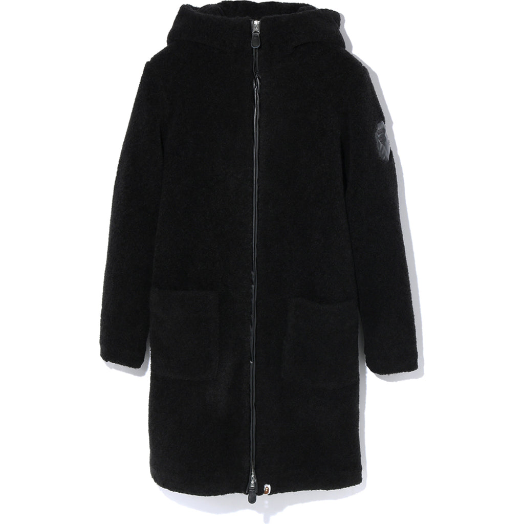 APPLIQUE BOA HOODIE COAT LADIES