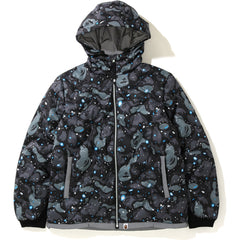SPACE CAMO HOODIE DOWN JACKET MENS