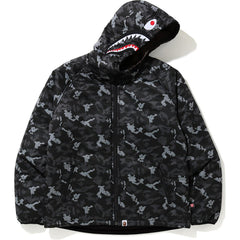 DIGITAL CAMO SHARK PADDED HOODIE JACKET MENS