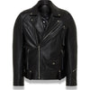 BAPE BLACK LEATHER BIKER JACKET MENS