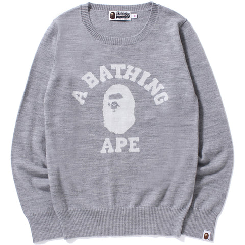 COLLEGE CREWNECK KNIT /AP