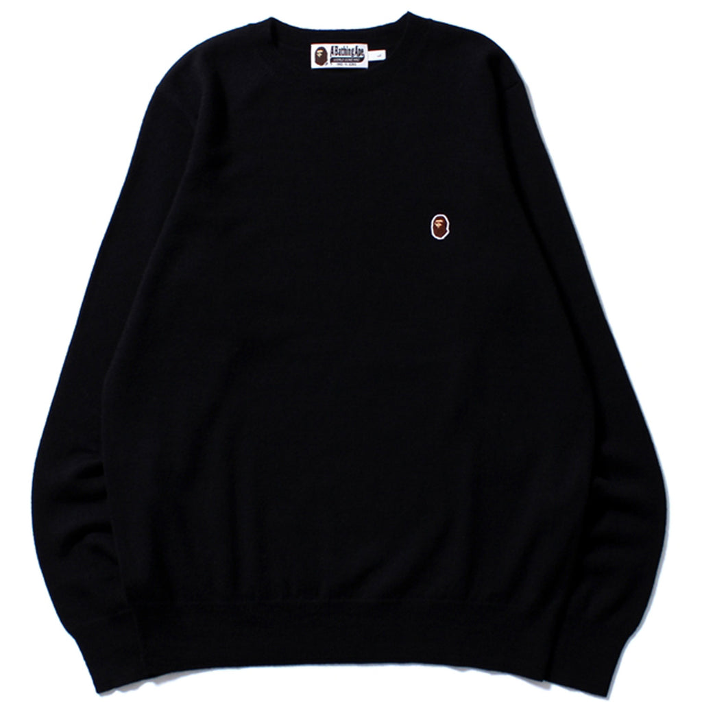 APE HEAD ONE POINT CREWNECK KNIT