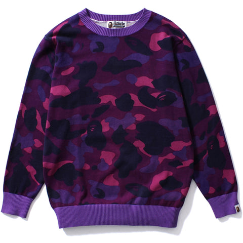 COLOR CAMO OVERSIZED KNIT /L