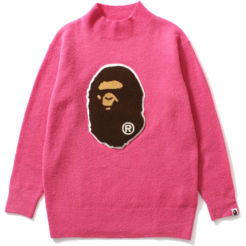 APE HEAD TURTLE NECK BOYFRIEND KNIT LADIES