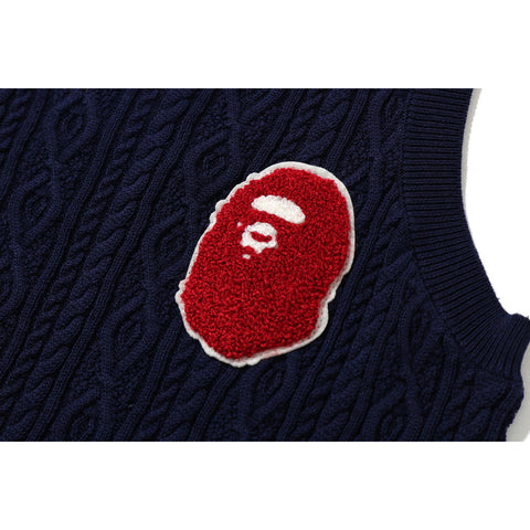 APE HEAD KNIT VEST KIDS