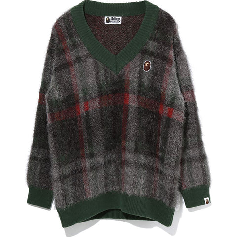 BAPE CHECK KNIT LADIES