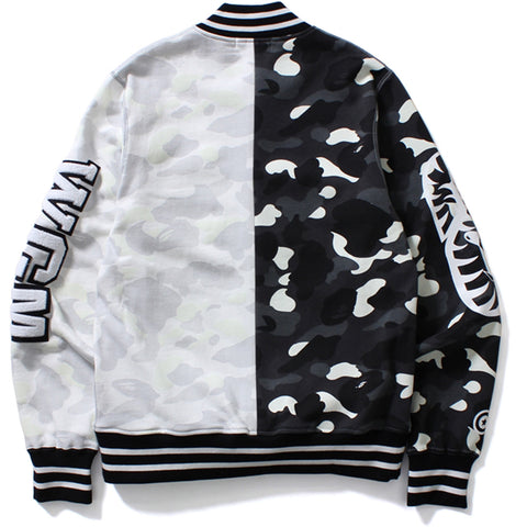 CITY CAMO SHARK SWEAT VARSITY JACKET