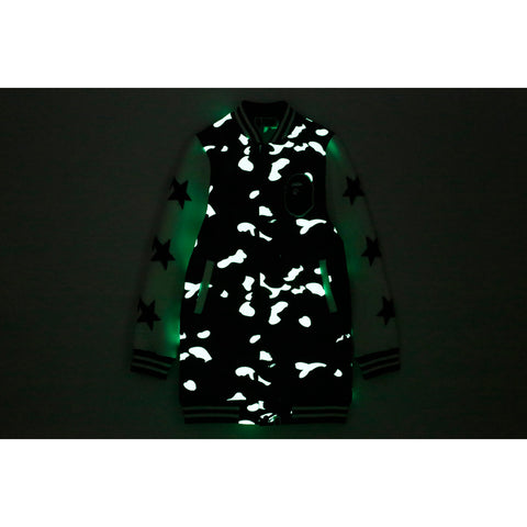 CITY CAMO JERSEY VARSITY LONG JACKET