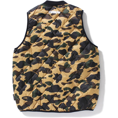 1ST CAMO LIGHT DOWN VEST MENS