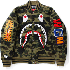 1ST CAMO WINDSTOPPER SHARK SWEAT VARSITY JACKET MENS