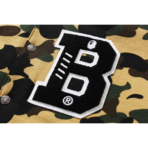 1ST CAMO SWEAT VARSITY JACKET M