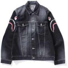 SHARK EMBROIDERY DENIM JACKET MENS