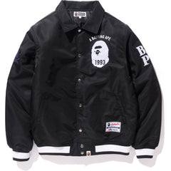 MAJESTIC SATIN VARSITY JACKET MENS