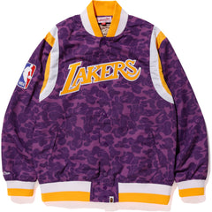 LAKERS BAPE WARM UP JACKET M
