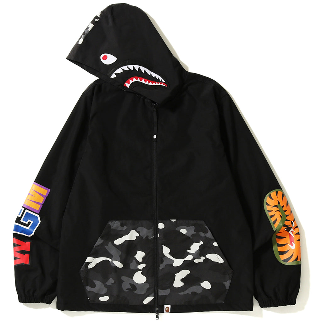 CITY CAMO SHARK HOODIE JACKET MENS