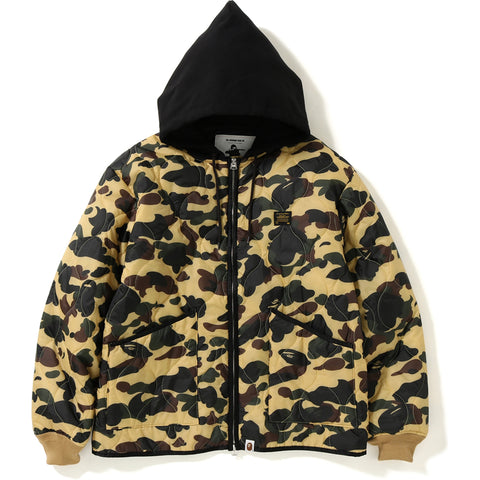 1ST CAMO QUILTING HOODIE JACKET MENS