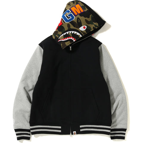 SHARK SWEAT VARSITY HOODIE JACKET MENS