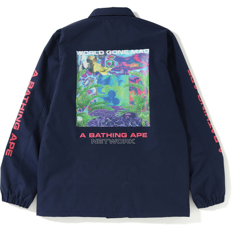 BAPE NETWORK COACH JACKET MENS