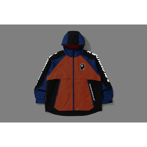 COLOR BLOCK POCKETABLE NYLON WINDBREAKER MENS