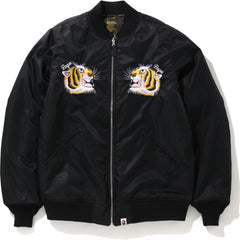 TIGER EMBRIODERY REVERSIBLE JACKET MENS