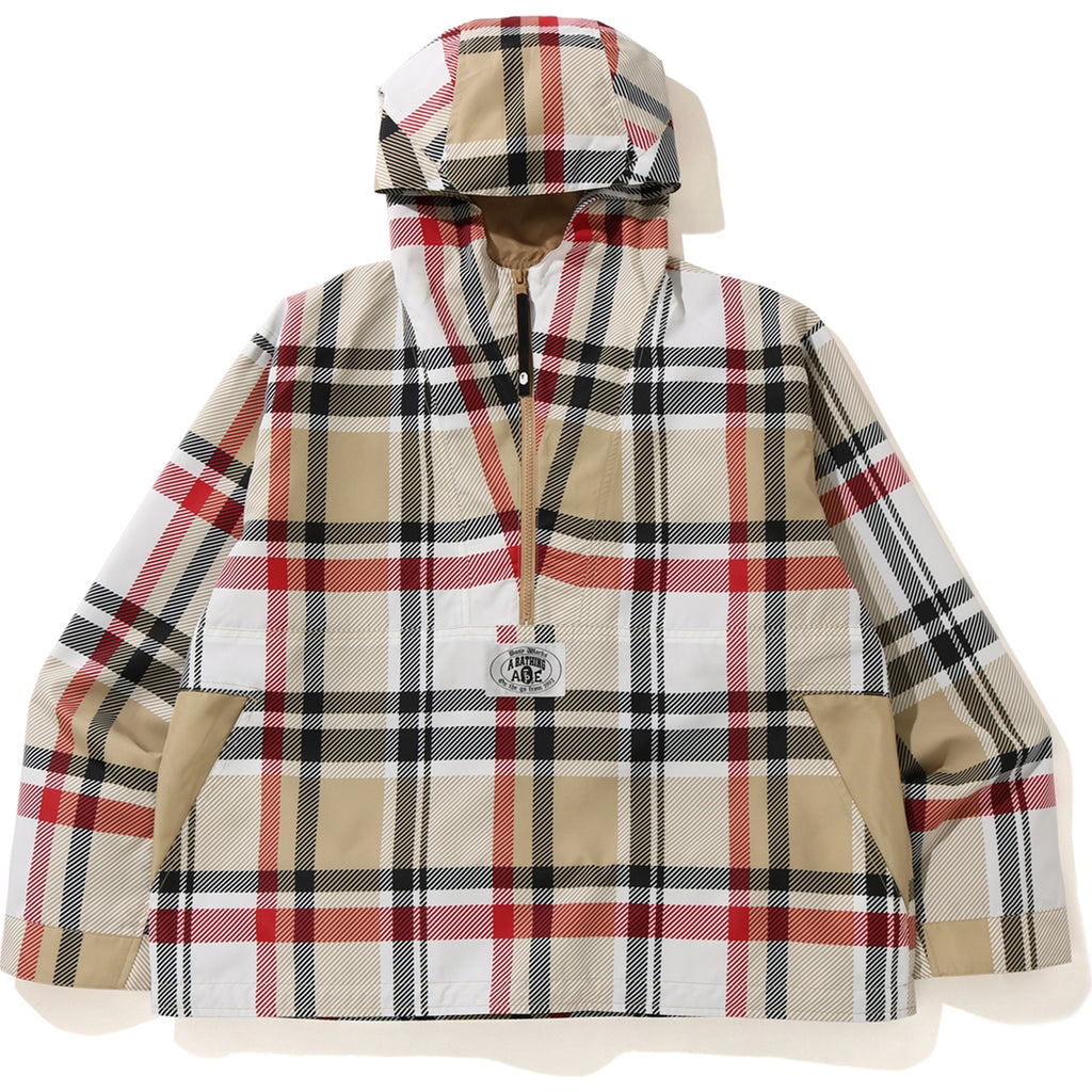 BAPE CHECK ANORAK JACKET MENS