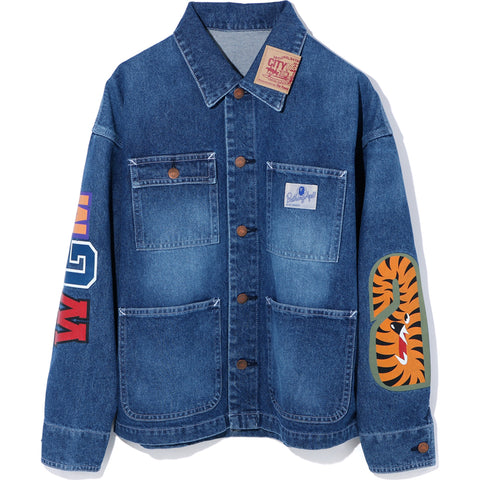 SHARK DENIM COVERALL JACKET LADIES