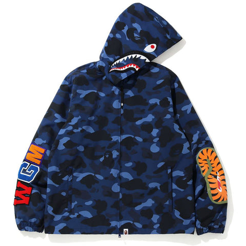 COLOR CAMO SHARK HOODIE JACKET MENS