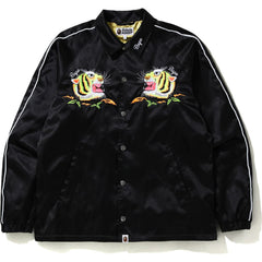 TIGER EMBROIDERY COACH JACKET MENS