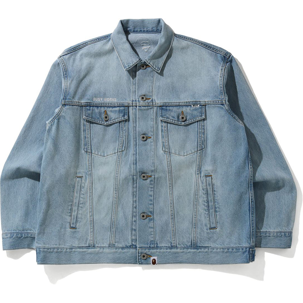 EMBROIDERY LOOSE FIT DENIM JACKET MENS