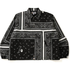 BANDANA PRINT RELAXED COACH JACKET MENS