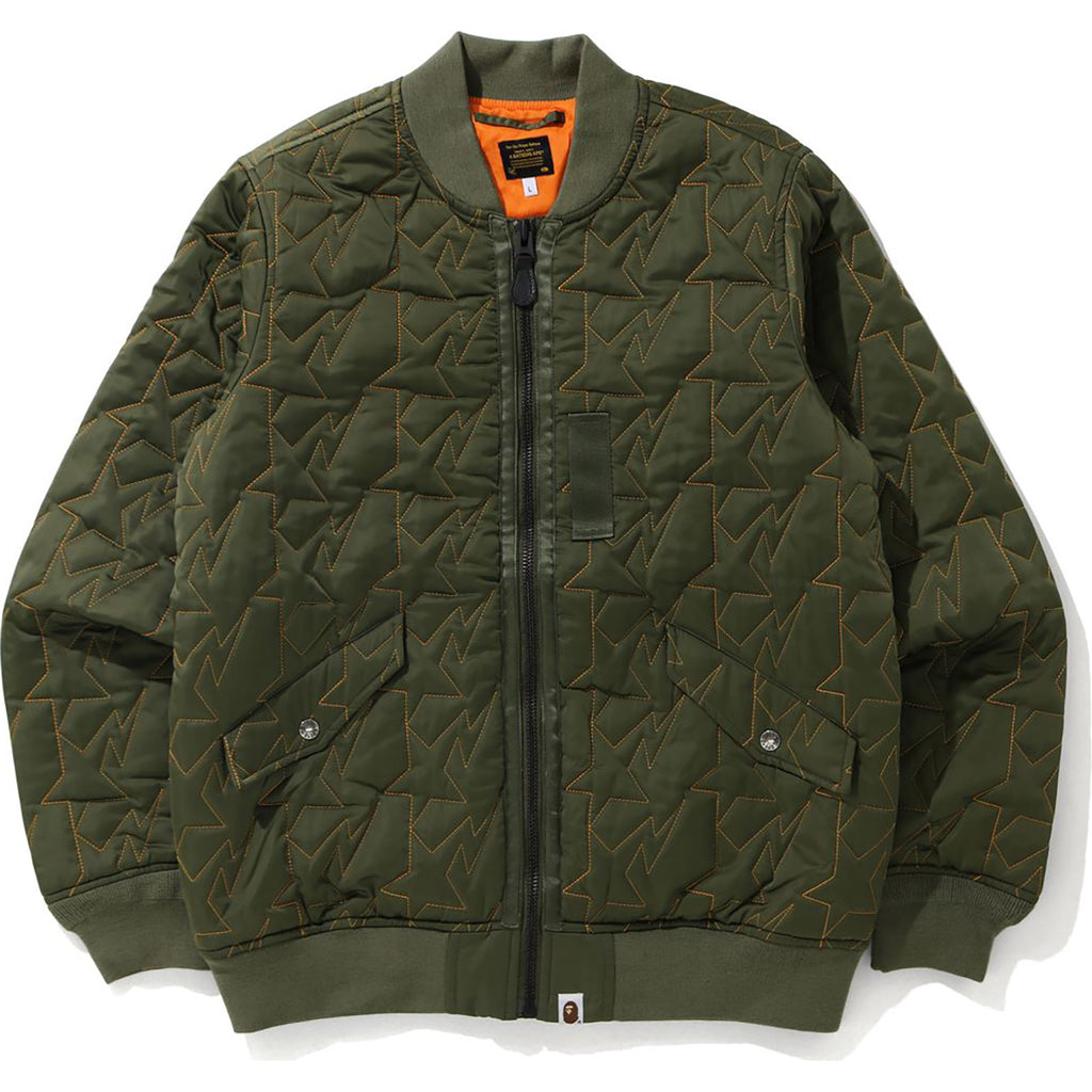 STA QUILTING BOMBER JACKET MENS