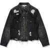 BAPE BLACK DENIM JACKET MENS