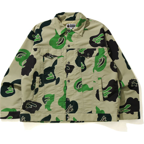 DEF CAMO LOOSE FIT TRUCKER JACKET MENS