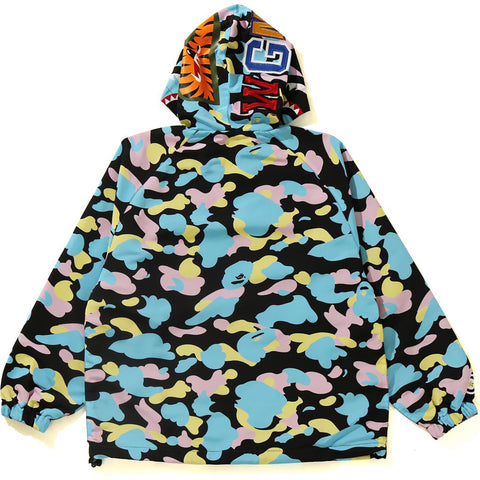 NEW MULTI CAMO SHARK OVERSIZED HOODIE JA LADIES