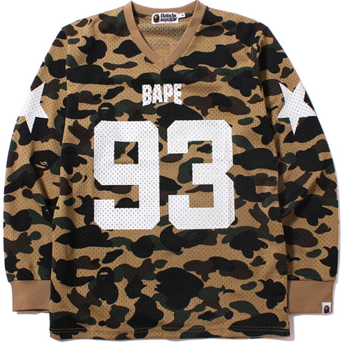 1ST CAMO MESH FOOTBALL LONG SLEEVE
