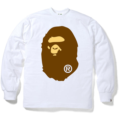 BIG APE HEAD LONG SLEEVE TEE