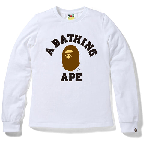 COLLEGE LONG SLEEVE TEE/AP