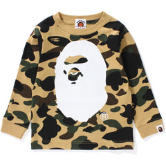 1ST CAMO BIG APE HEAD L/S TEE KIDS