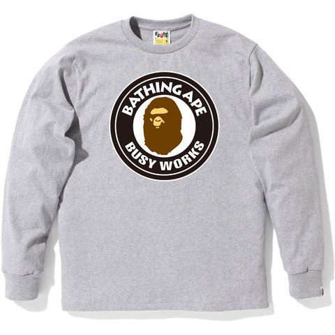 BUSY WORKS LONG SLEEVE TEE M