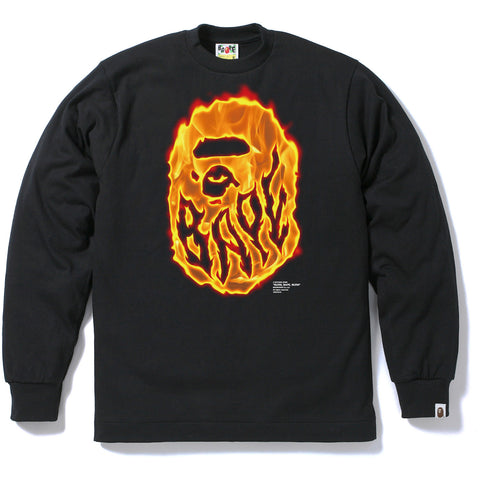 BURN BAPE BURN LONG SLEEVE TEE MENS