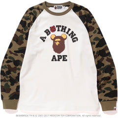 1ST CAMO BE@R COLLEGE L/S TEE MENS