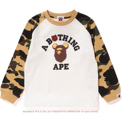 1ST CAMO BE@R COLLEGE L/S TEE KIDS