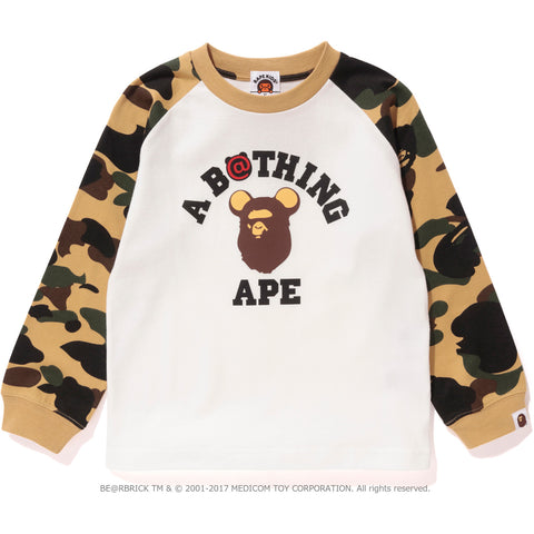 1ST CAMO BE@R COLLEGE L/S TEE LADIES