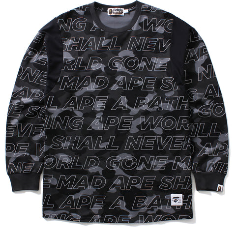 TEXT COLOR CAMO L/S TEE MENS