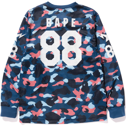 COLOR CAMO MESH FOOTBALL L/S TEE MENS
